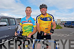 Bernard Mullins and John Quirke from Tralee at the Ballyheigue Summer Festival Grand Parade on Sunday