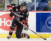Jamie Oleksiak (Northeastern - 6) - The visiting Northeastern University Huskies defeated the University of Massachusetts-Lowell River Hawks 3-2 with 14 seconds remaining in overtime on Friday, February 11, 2011, at Tsongas Arena in Lowelll, Massachusetts.