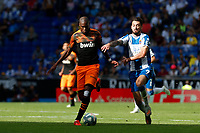 2nd November 2019; RCDE Stadium, Barcelona, Catalonia, Spain;La Liga Football, Real Club Deportiu Espanyol de Barcelona versus Club de Futbol Valencia; Kondogbia of Valencia holds off Ferreyra of Espanyol - Editorial Use