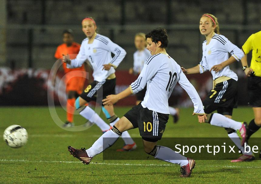 U17  Netherlands - U17 Germany : Jasmin Sehan.foto DAVID CATRY / Vrouwenteam.be