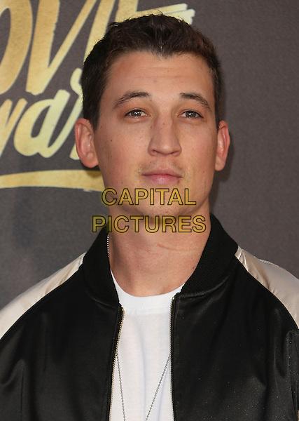 09 April 2016 - Burbank, California - Miles Teller. 2016 MTV Movie Awards held at Warner Bros. Studios. <br /> CAP/ADM/SAM<br /> &copy;SAM/ADM/Capital Pictures