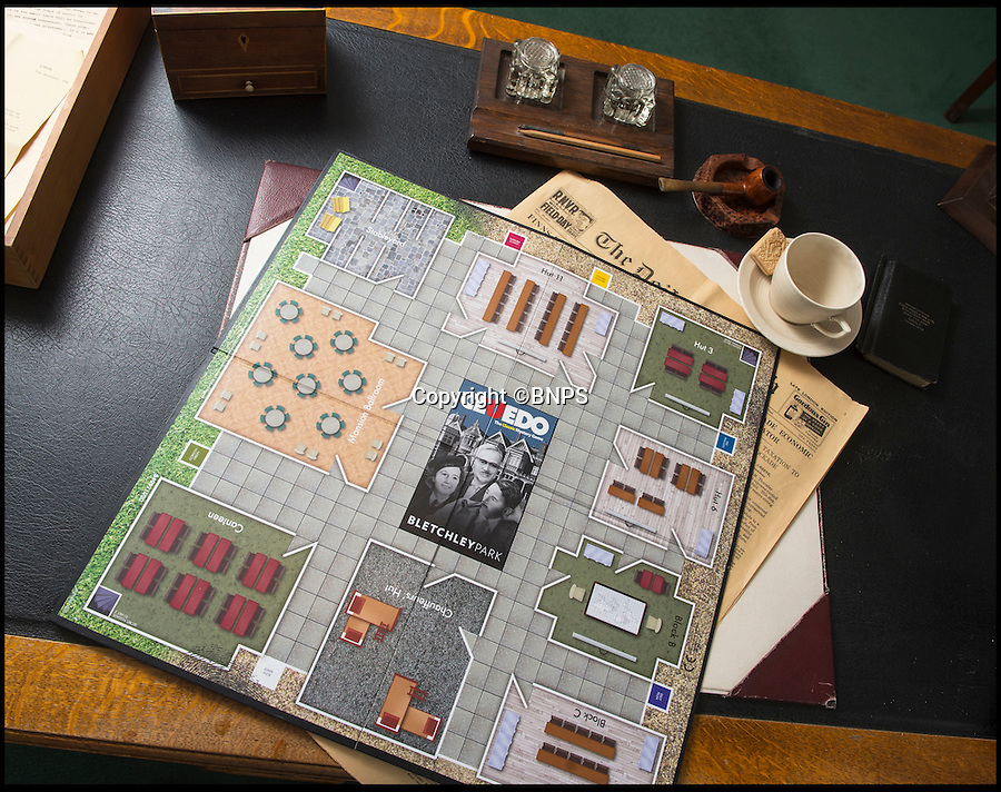 BNPS.co.uk (01202 558833)<br /> Pic: PhilYeomans/BNPS<br /> <br /> Immitation game - Top Secret Bletchley Park gets its own murder mystery game in time for Xmas.<br /> <br /> Featuring characters based on the real boffins from the wartime establishment, including Bombe machine operator Ruth Bourne who is delighted to be immortalised in the new game.<br /> <br /> Cluedo: Bletchley Park follows the same principles as the classic game everyone knows and loves, but with an 'enigmatic' twist.<br /> <br /> During the war the country estate in Buckinghamshire housed mathematicians, linguists, chess champions, egyptologists and anthropologists all secretly working to crack Enigma, the German code machine leaders in Berlin thought was unbreakable.<br /> <br /> It is said the 'ultra' intelligence produced at Bletchley shortened the war by between two and four years and saved thousands of lives.<br /> <br /> The game is now on sale in Bletchley Park's gift shop and online, priced &pound;29.99.