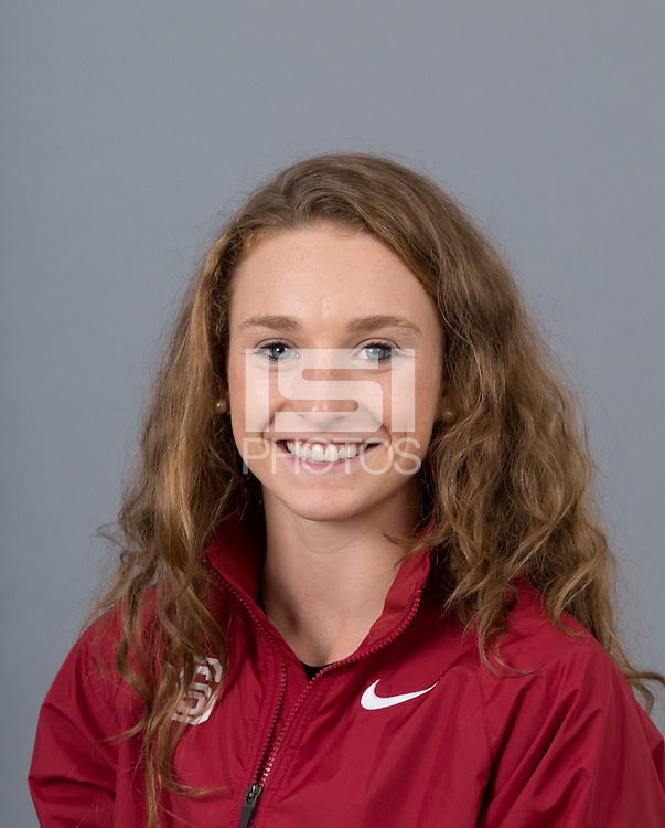 STANFORD, CA - SEPTEMBER 24, 2014--Elise Cranny, with Stanford University Cross Country Team