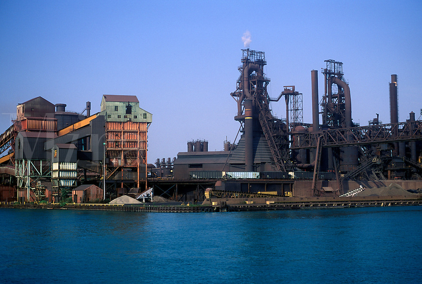 Great Lakes Steel coke processing facility on the shore of the Detroit River