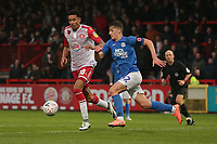 Kurtis Guthrie of Stevenage and Harrison Burrows of Peterborough United during Stevenage vs Peterborough United, Emirates FA Cup Football at the Lamex Stadium on 9th November 2019