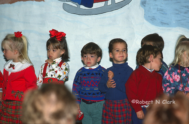 Kids at preschool Christmas Party