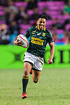 Selvyn Davids of South Africa runs with the ball during the HSBC Hong Kong Sevens 2018 Bronze Medal Final match between South Africa and New Zealand on 08 April 2018 in Hong Kong, Hong Kong. Photo by Marcio Rodrigo Machado / Power Sport Images