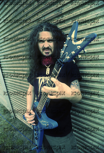 Pantera - guitarist Dimebag Darrell Abbott backstage at the Monsters of Rock at Donington Park UK - 04 Jun 1994.  Photo credit: Eddie Malluk / IconicPix