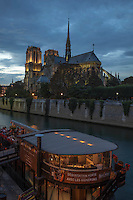 The Gothic architecture of the iconic Notre Dame Cathedral required two centuries to complete