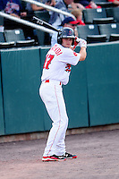 Lowell Spinners outfielder Andrew Benintendi (17) during a game versus the Auburn Doubledays at Lelacheur Park on July 25, 2015 in Lowell, Massachusetts. (Ken Babbitt/Four Seam Images)