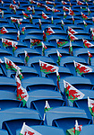 Welsh flags adorn the stadium during the World Cup Qualifying Group D match at the Cardiff City Stadium, Cardiff. Picture date 2nd September 2017. Picture credit should read: Simon Bellis/Sportimage