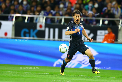 Shinji Okazaki (JPN),<br /> MARCH 29, 2016 - Football / Soccer :<br /> FIFA World Cup Russia 2018 Asian Qualifier Second Round Group E match between Japan 5-0 Syria at Saitama Stadium 2002 in Saitama, Japan. (Photo by Kenzaburo Matsuoka/AFLO)