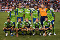 The Seattle Sounders line up beforethe Lamar Hunt U.S. Open Cup at RFK Stadium in Washington, DC.  The Seattle Sounders defeated DC United, 2-1.