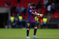 Lionel Messi of FC Barcelona after Tottenham Hotspur vs FC Barcelona, UEFA Champions League Football at Wembley Stadium on 3rd October 2018