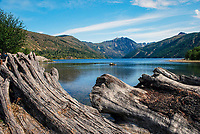 Coldwater Lake which was formed following the 1980 eruption of Mt St Helens, Washington State, USA. Rocks from the eruption blocked a mountain stream to create the lake. 200809020876<br />