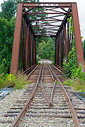 Trestle along the old Boston & Maine Railroad's Pemigewasset Valley Railroad in Plymouth, New Hampshire. This trestle crosses the Baker River, near today's Common Man Inn & Spa. And this railroad connected Plymouth to North Woodstock, New Hampshire.