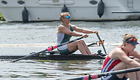 Henley. Berks, United Kingdom. <br /> <br /> Phoebe CAMPBELL. University of Exeter. JW1X. winning the final at the  2017 Henley' Women's  the Regatta. Rowing on, Henley Reach. River Thames. <br /> <br /> Sunday  18/06/2017<br /> <br /> <br /> [Mandatory Credit Peter SPURRIER/Intersport Images]