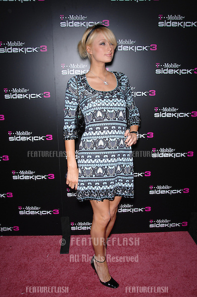 PARIS HILTON at party in Beverly Hills to launch the new limited edition T-Mobile Sidekick 3 designs..October 12, 2006  Los Angeles, CA.Picture: Paul Smith / Featureflash