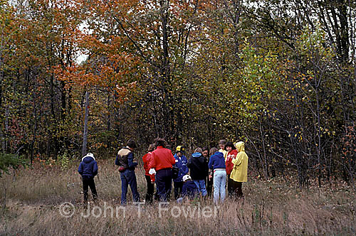 Nature study group outing with instructor