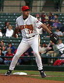 July 12, 2003:  Pitcher Tony Fiore of the Red Wings, Class-AAA affiliate of the Minnesota Twins, during a International League game at Frontier Field in Rochester, NY.  Photo by:  Mike Janes/Four Seam Images