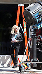September 16th 2010  Exclusive ...Morgan Fairchild Filming the tv show Chuck in Los Angeles. Morgan was smiling as she walked to set filming at a baby store. Morgan was wearing a blue jacket & blouse with gold neclace & earings. ...AbilityFilms@yahoo.com.805-427-3519.www.AbilityFilms.com..
