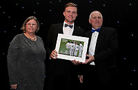 Devines player of the month award for September - Sam Cook with Clive and Alison Purdy during the Essex CCC 2017 Awards Evening at The Cloudfm County Ground on 5th October 2017