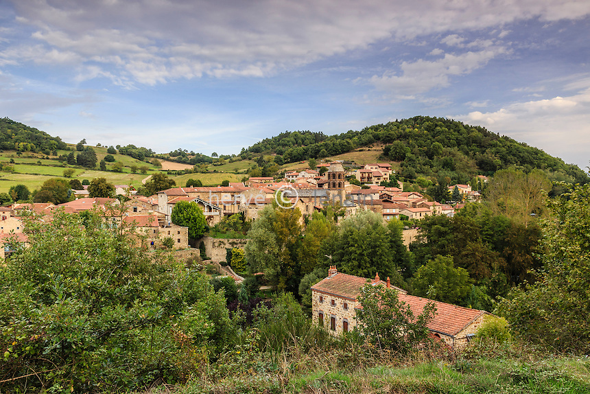 France, Haute-Loire (43), Lavaudieu, labellis&eacute; Les Plus Beaux Villages de France // France, Haute Loire, Lavaudieu, labelled Les Plus Beaux Villages de France (The Most beautiful<br /> Villages of France)