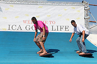 to surf at the ICA Good Life tent