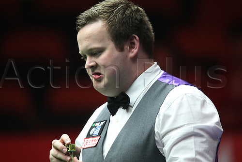 31.03.2011 Beijing, CHINA; Shaun Murphy defeats Li Hang 5:4 in the second round at the 2011 World Snooker China Open.