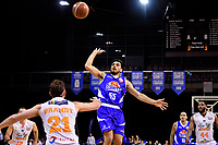 Saints&rsquo; Shea Ili in action during the NBL - Cigna Saints v Hawkes Bay Hawks at TSB Arena, Wellington, New Zealand on Sunday 27 May 2018.<br /> Photo by Masanori Udagawa. <br /> www.photowellington.photoshelter.com