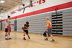 PE students at Cardinal High School in Middlefield, Ohio.