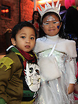 Andrea Linbgad and Mark Lagman pictured at the Halloween party in Scotch Hall. Photo:Colin Bell/pressphotos.ie