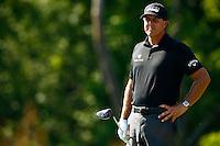Phil Mickelson waits to tee off on the 4th hole during the 2016 U.S. Open in Oakmont, Pennsylvania on June 17, 2016. (Photo by Jared Wickerham / DKPS)