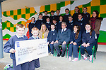 Damian Cronin and Mark Cronin and the children from Gneeveguilla NS who made their Confirmation this year all made donations from their Confirmation money to Kerry Hospice they presented the cheque to Ted Moynihan at the school on Friday before they broke for their Easter holidays front row l-r: Geraldine Shanahan Principal,Damian O'Halloran Damian Cronin, Ted Moynihan, Mark Cronin, Kornelia Cybul,  Katie O'SullivanMiddle row: Ciarraí Jones, Ronan Collins, Luke Tyndel, Donal Daly, Hanorah Hurley, Cora O'Leary, Aoife O'Sullivan, Denis O'Connor teacher. Back row: Damian O'Halloran, Danny Finnegan, Dawid Herdzik, Daniel collins, Paudie Murphy, Aishling Brosnan, Megan Mccarthy,