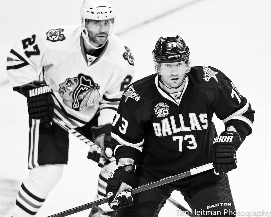 Jan 24, 2013; Dallas, TX, USA;  Chicago Blackhawks at Dallas Stars