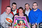 The Boyle family team that held the Martha Boyle basketball blitz in memory of their daughter in Currow Community Centre on Sunday front row l-r: Damien, Pio, Margaret, Billy and Richard   Copyright Kerry's Eye 2008