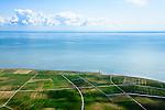 Nederland, Friesland, Terschelling, 05-08-2014;  Terschellingerpolder ten zuiden van Lies. Zicht op het Wad en de Waddenzee.<br /> Wadden island Terschelling with polders and Wadden Sea.<br /> luchtfoto (toeslag op standard tarieven);<br /> aerial photo (additional fee required);<br /> copyright foto/photo Siebe Swart