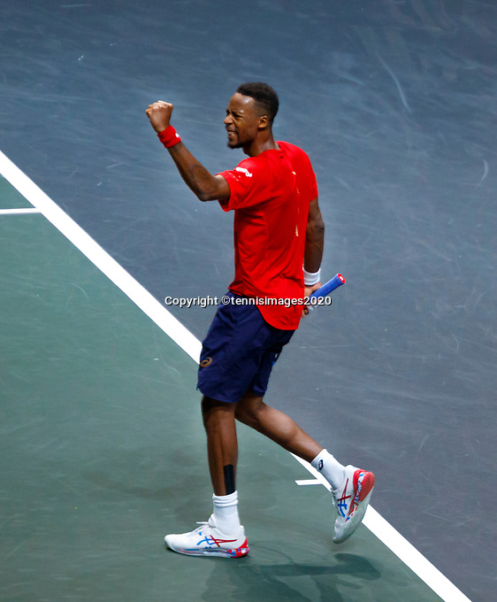 Rotterdam, The Netherlands, 9 Februari 2020, ABNAMRO World Tennis Tournament, Ahoy, Gaël Monfils (FRA), Gilles Simon (FRA).<br /> Photo: www.tennisimages.com