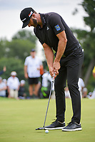 Dustin Johnson (USA) sinks his par putt on 1 during Rd3 of the 2019 BMW Championship, Medinah Golf Club, Chicago, Illinois, USA. 8/17/2019.<br /> Picture Ken Murray / Golffile.ie<br /> <br /> All photo usage must carry mandatory copyright credit (© Golffile   Ken Murray)