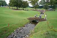 Y.E. Yang (KOR) crosses the footbridge on the 13th hole during Wednesday's Practice Day of the 2017 PGA Championship held at Quail Hollow Golf Club, Charlotte, North Carolina, USA. 9th August 2017.<br /> Picture: Eoin Clarke | Golffile<br /> <br /> <br /> All photos usage must carry mandatory copyright credit (&copy; Golffile | Eoin Clarke)