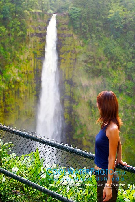 Akaka Falls, drop 420 feet, Hilo, Big Island, Hawaii