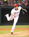 Yu Darvish (Rangers),<br /> APRIL 28, 2014 - MLB :<br /> Yu Darvish of the Texas Rangers pitches during the Major League Baseball game against the Oakland Athletics at Globe Life Park in Arlington in Arlington, Texas, United States. (Photo by AFLO)