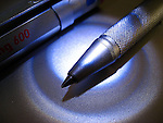 A macro shot of a pen