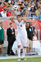 Joan Capdevila (11) of Spain. The men's national team of Spain (ESP) defeated the United States (USA) 4-0 during a International friendly at Gillette Stadium in Foxborough, MA, on June 04, 2011.
