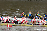 Chiswick, London. ENGLAND, 09.03.2006, J18+ Kingston GS [No.80] move along side St Georges [No.79] during the Schools Head of the River Race Chiswick Bridge to Putney  on Thursday 9th March    © Peter Spurrier/Intersport-images.com.. Schools Head of the River Race. Rowing Course: River Thames, Championship course, Putney to Mortlake 4.25 Miles
