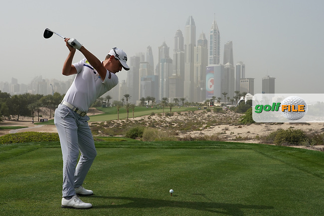 Jason Scrivener (NZL) in action during the first round of the Omega Dubai Desert Classic, Emirates Golf Club, Dubai, UAE. 24/01/2019<br /> Picture: Golffile | Phil Inglis<br /> <br /> <br /> All photo usage must carry mandatory copyright credit (© Golffile | Phil Inglis)