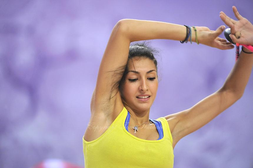 September 20, 2014 - Izmir, Turkey - VARVARA FILIOU of Greece performs in training at 2014 World Championships during trainings.