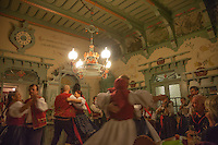 Traditional music and dancing in Pustevny in the Beskydy Mountains
