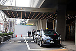 Taxis line up outside  the Keio Plaza Hotel , where Irishwoman  Nicola Furlong was strangled last May,n Tokyo, Japan on 19 March 2013. Her killer, Richard Hinds was sentenced to between 5 and 10 years in prison with labor. Photographer: Robert Gilhooly