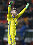 Spain's David De Gea celebrates goal during FIFA World Cup 2018 Qualifying Round match. March 24,2017.(ALTERPHOTOS/Acero)